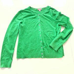 Lilly Pulitzer Vivid Green Gem Button Cardigan